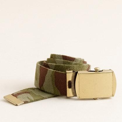 Boys' camo elastic belt