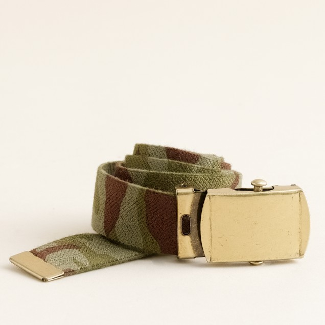 Boys' camo elastic belt