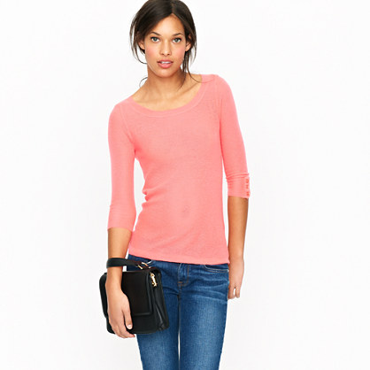 Cashmere mesh crewneck sweater