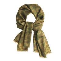 Camouflage silk scarf