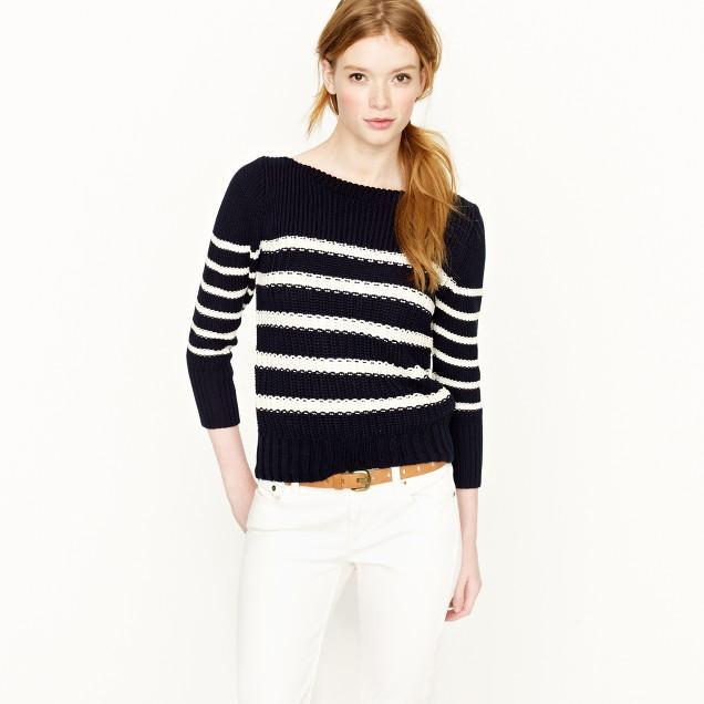 Ripplestitch sweater in stripe