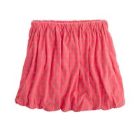 Girls' polka-dot bubble skirt