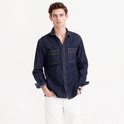 Selvedge indigo denim shirt