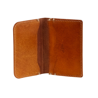 Cognac accordion wallet