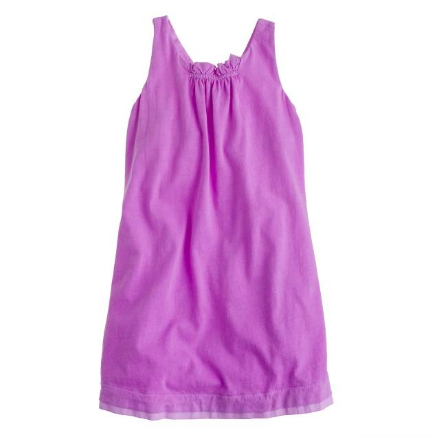 Girls' A-line halter dress