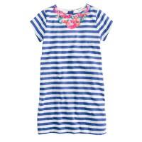 Girls' stripe necklace dress