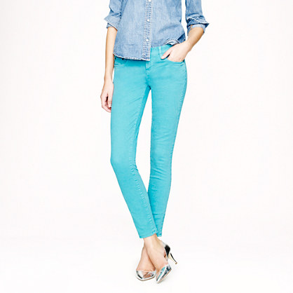 Tall toothpick jean in garment-dyed twill
