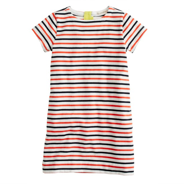 Girls' stripe tee dress