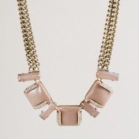 Resin colorblock necklace