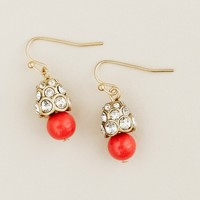 Acorn fireball earrings