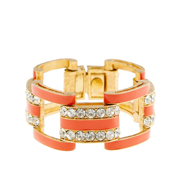 Crystal dot hand-enameled bracelet