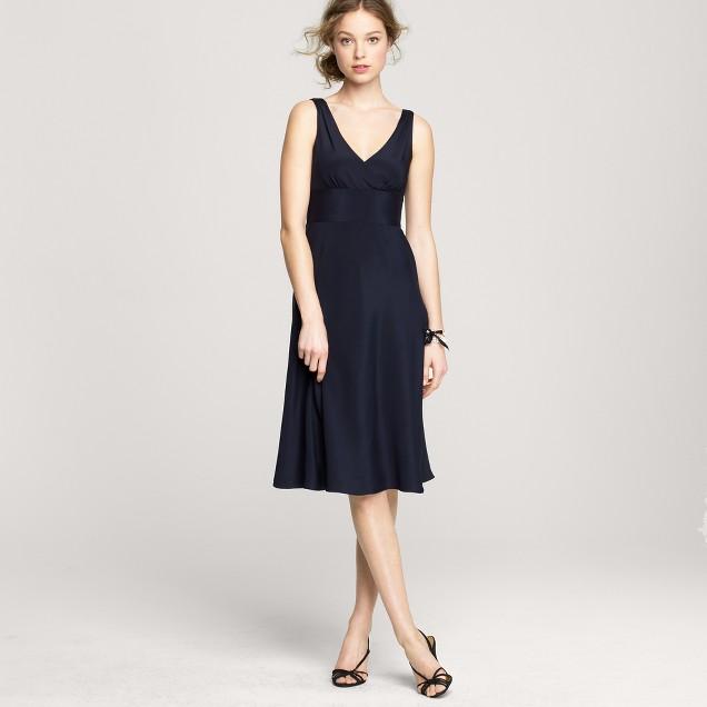 Sophia dress in silk tricotine