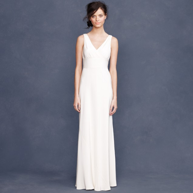 Sophia gown in tricotine