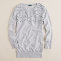 Merino tatted lace sweater