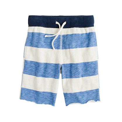 Boys' pull-on playtime short in sailor stripe