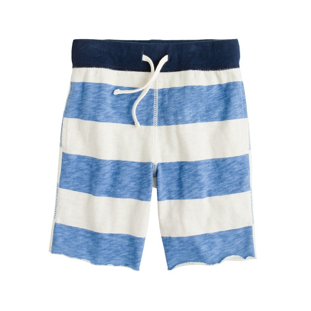 Boys' pull-on playtime short in sailor stripe