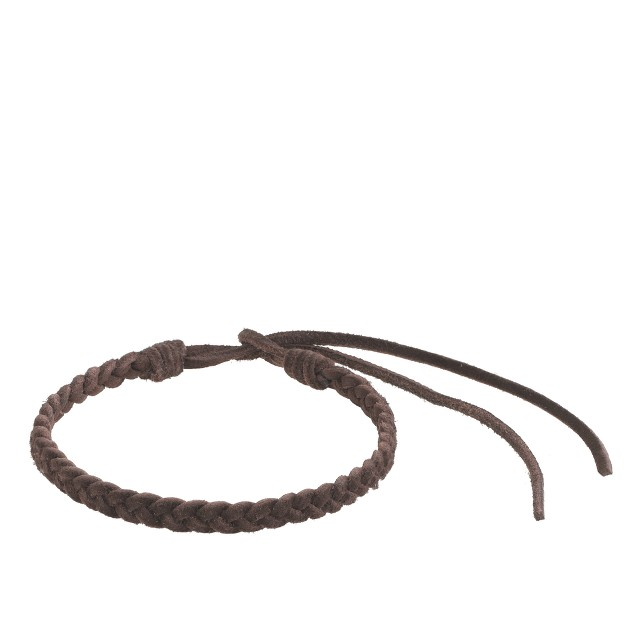 Braided suede bracelet