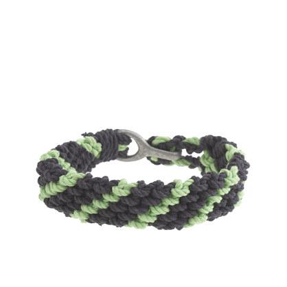 Braided rope bracelet in stripe