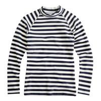 Stripe rash-guard top