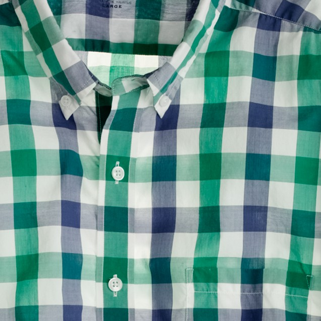 Secret Wash lightweight shirt in Fallon check