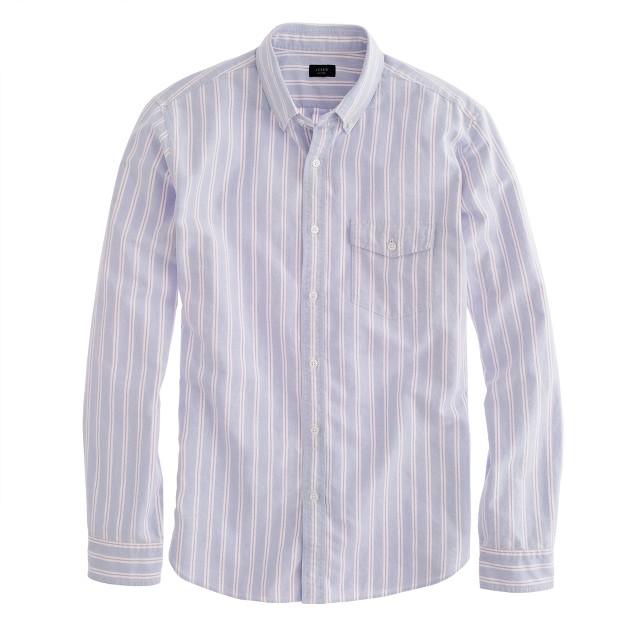 Vintage oxford shirt in washed beet stripe
