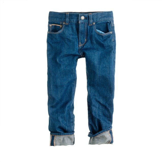 Boys' collection slim selvedge jean in blue tides wash