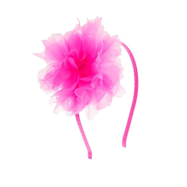 Girls' organza flower headband