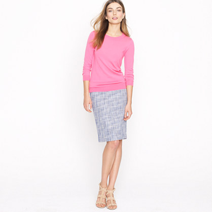 No. 2 pencil skirt in basket-weave tweed