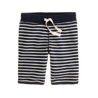 Boys' pull-on long terry short in nautical stripe