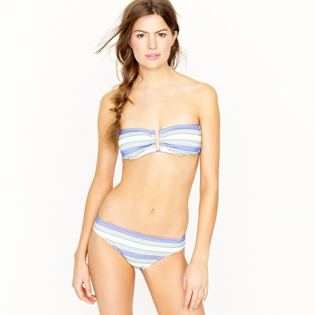 Oxford-stripe bandeau top