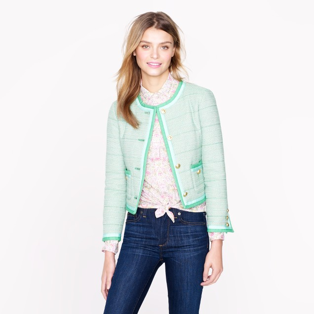 Spearmint tweed jacket