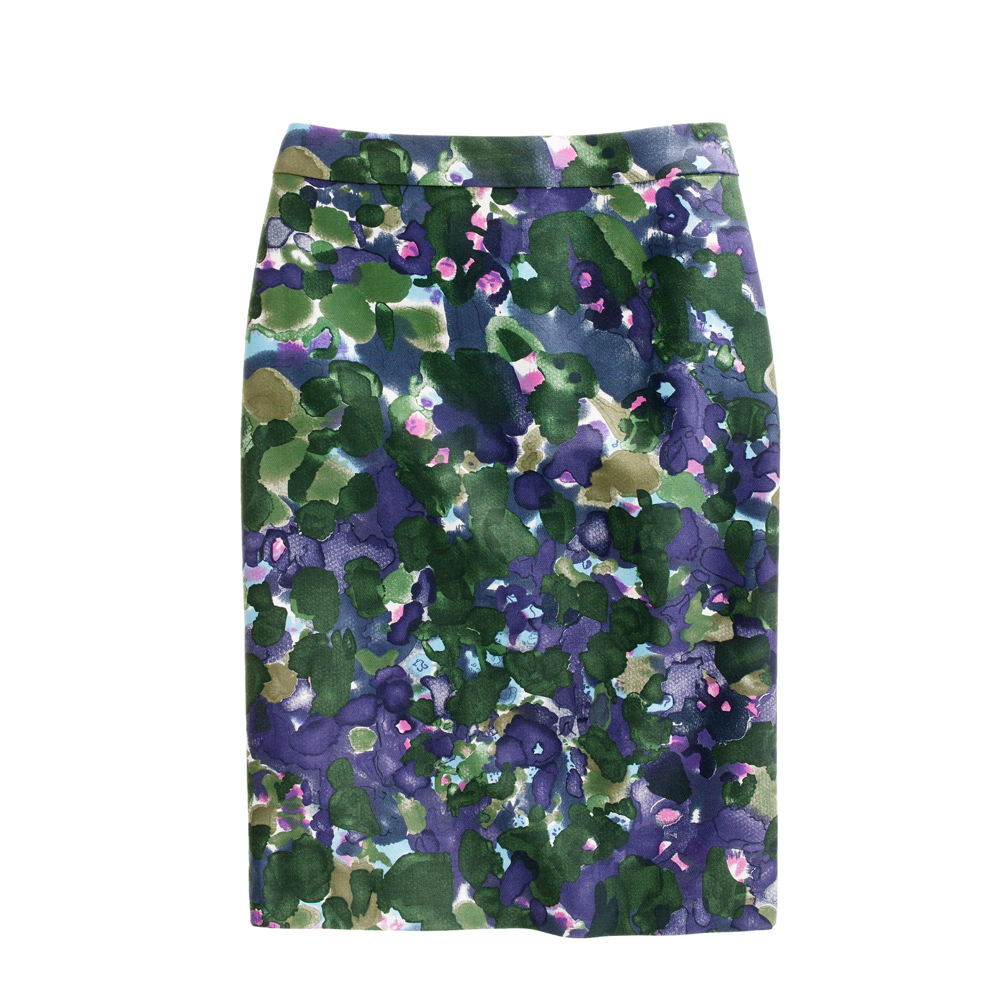 Petite No. 2 pencil skirt in gardenshade floral :   J.Crew