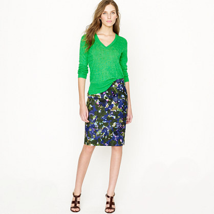 No. 2 pencil skirt in gardenshade floral