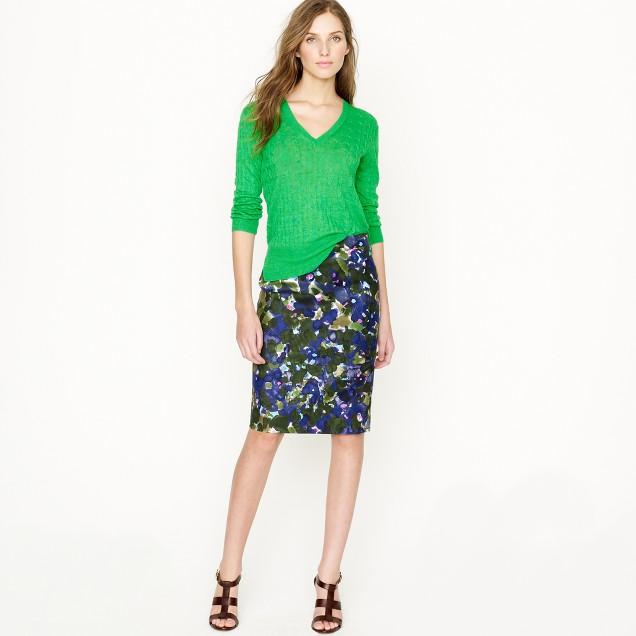 No. 2 pencil skirt in gardenshade floral