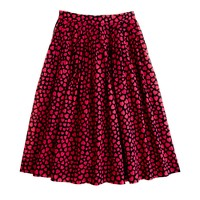 Pleated jardin skirt in heart throb