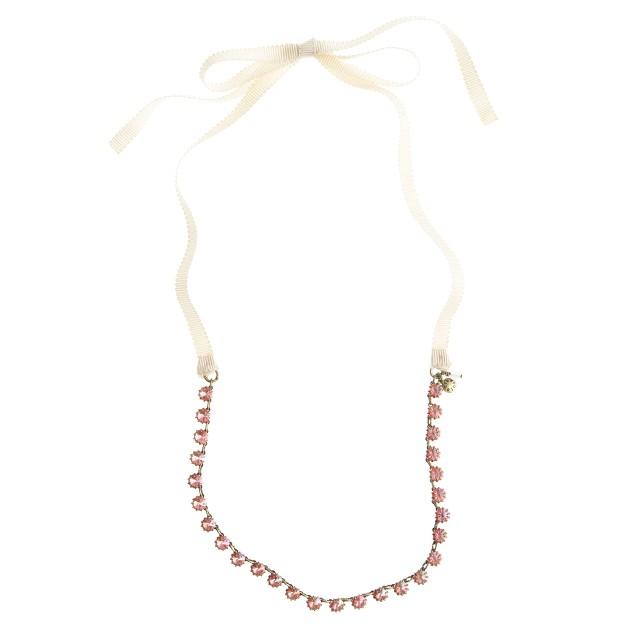 Girls' diamond flower necklace