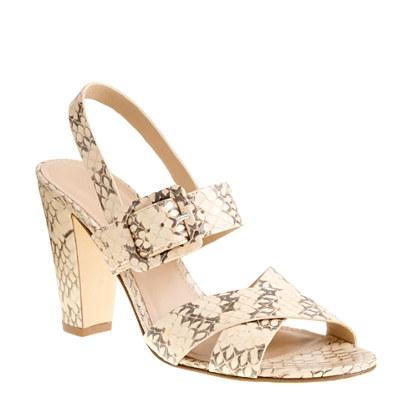 Sydney snakeskin sandals