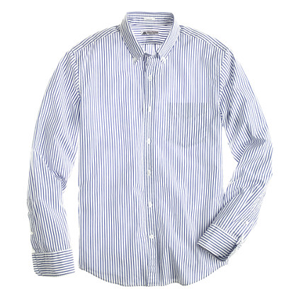 Thomas Mason® for J.Crew slim shirt in Baltic stripe