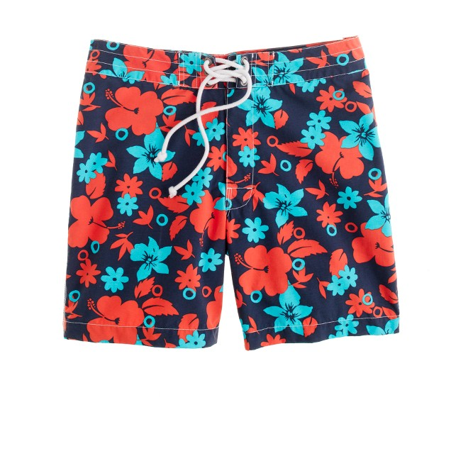 "7"" board shorts in nautical navy floral"