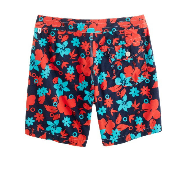 """7"""" board shorts in nautical navy floral"""