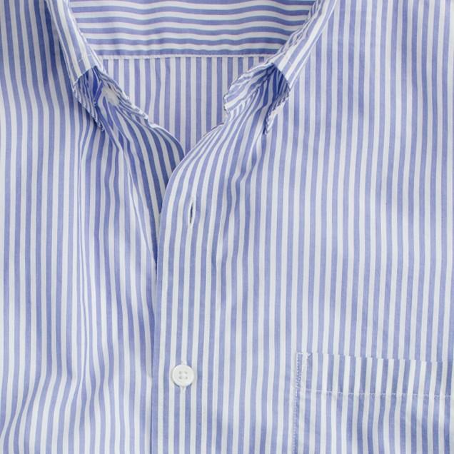 Slim Secret Wash lightweight shirt in banker stripe
