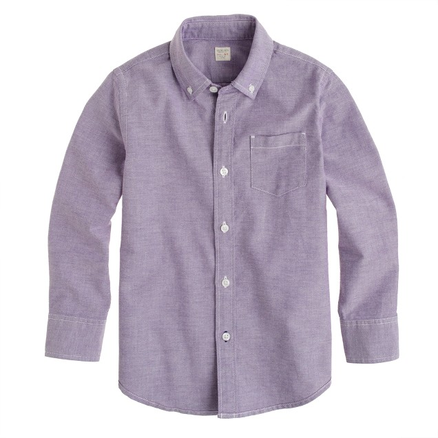 Boys' sun-faded oxford shirt