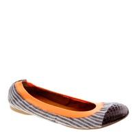 Mila snakeskin cap toe ballet flats