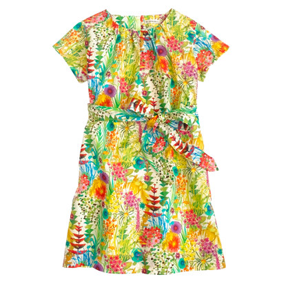 Girls' Liberty short-sleeve dress in Tresco floral