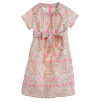 Girls' Liberty short-sleeve dress in Lodden paisley