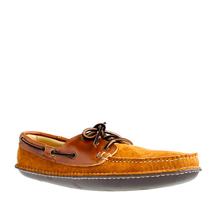 Men's Quoddy® Cavalier leather and cognac suede boat moccasins