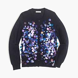 Girls' iridescent bubble cardigan