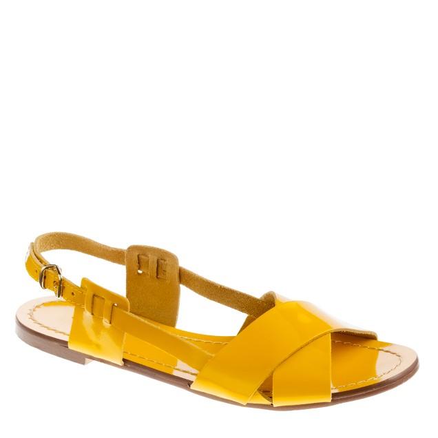 Tova patent sandals