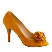 Evie fleurette peep-toe pumps