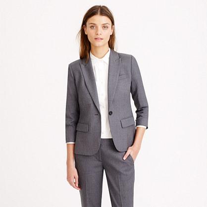 Petite Sidney jacket in Super 120s wool